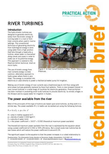 River Turbines