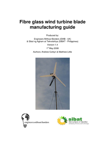 Fibre glass wind turbine blade: manufacturing guide