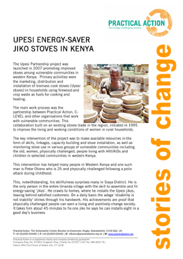 Upesi Energy-Saver Jiko Stoves in Kenya