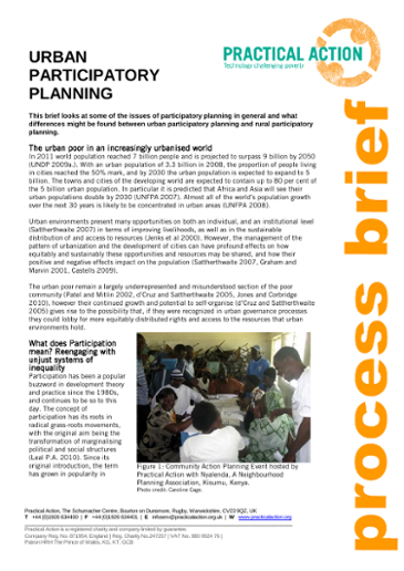 Urban Participatory Planning