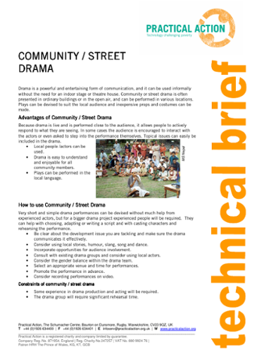 Community Street Drama