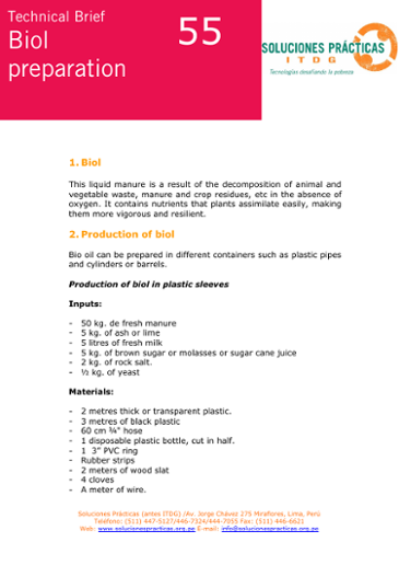 Biol Preparation