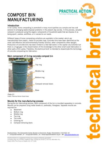 Compost Bin Manufacture