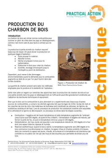 Production du Charbon de Bois