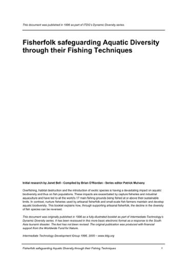 Fisherfolk safeguarding aquatic diversity through fishing techniques