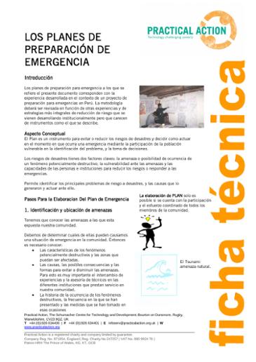 Planes de Preparación de Emergencia