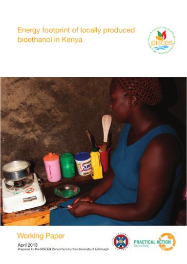 Energy footprint of locally produced bioethanol in Kenya