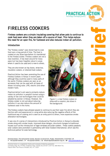 Fireless Cookers