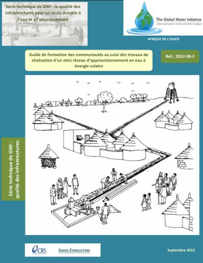 Communautés au suivi des travaux de réalisation d'un mini réseau d'approvisionnement en eau