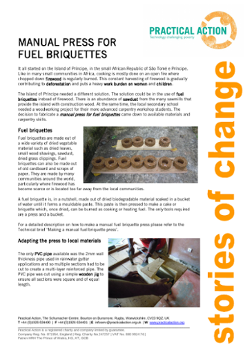 Manual Press for Fuel Briquettes