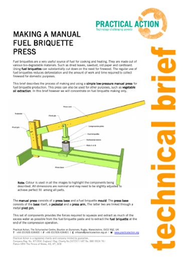Making a Manual Fuel Briquette Press
