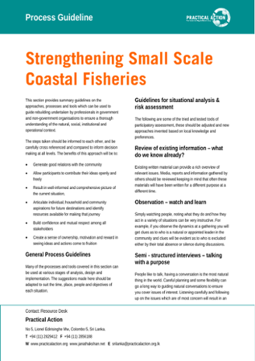 Strengthening small scale coastal fisheries: process guidelines