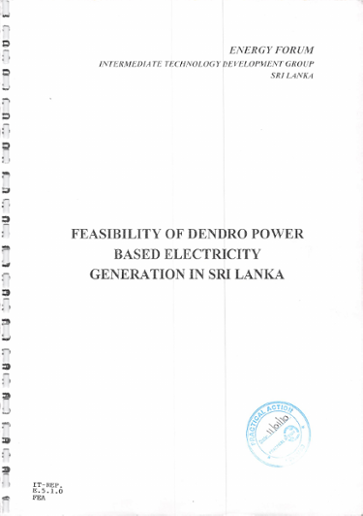Feasibility of dendro power based electricity generation in Sri Lanka