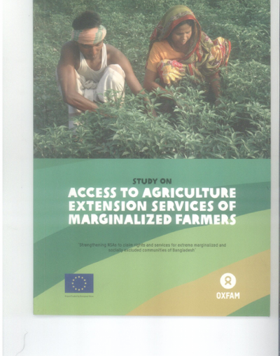 Access to agriculture extension services of marginalized farmers