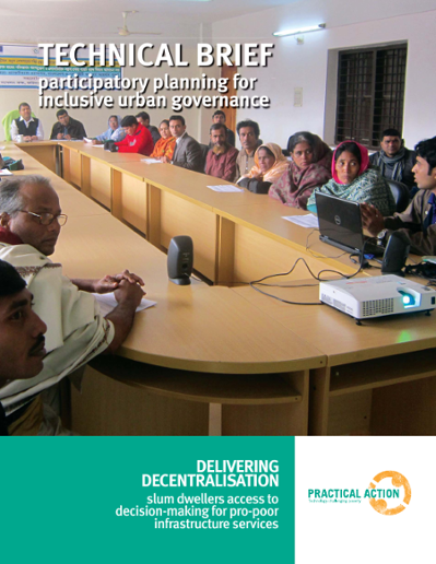 TECHNICAL BRIEF participatory planning for inclusive urban governance