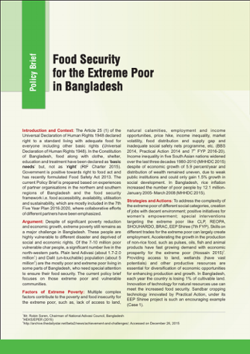 Food Security for the Extreme Poor in Bangladesh